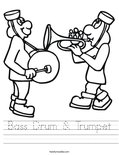 Bass Drum & Trumpet Worksheet