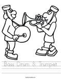 Bass Drum & Trumpet Worksheet