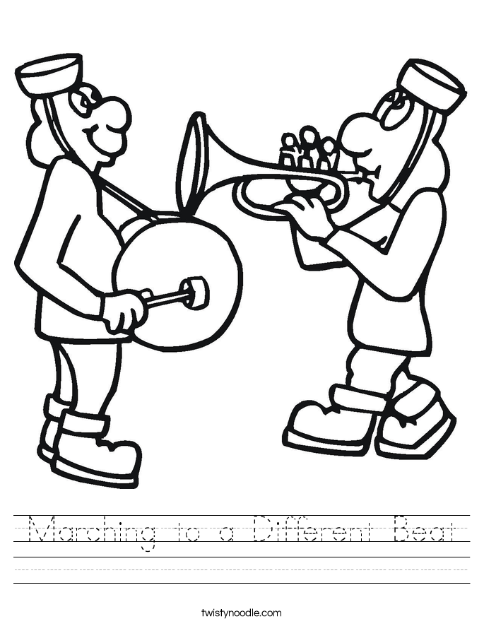 Marching to a Different Beat Worksheet