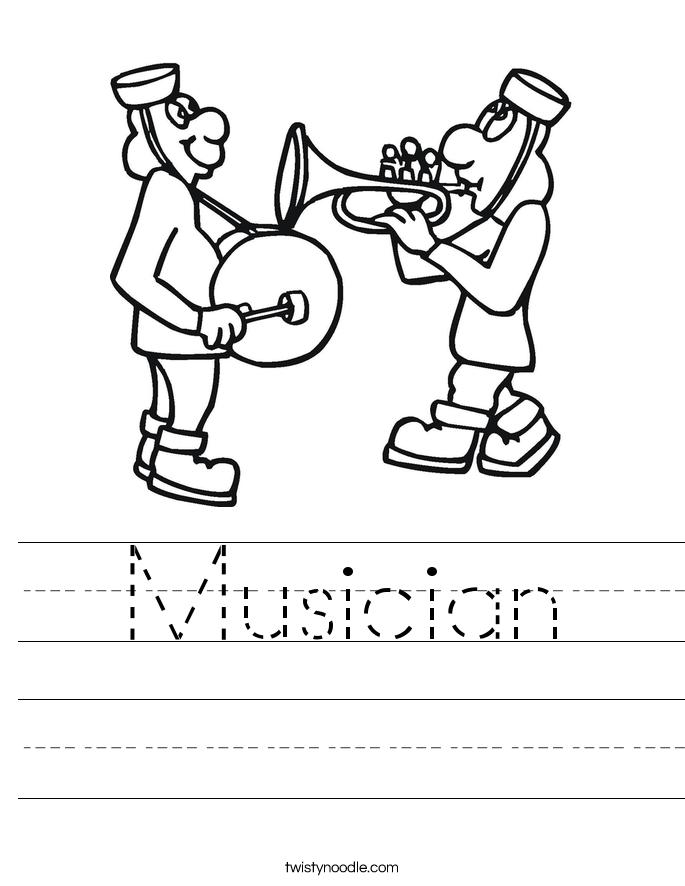 Musician Worksheet - Twisty Noodle