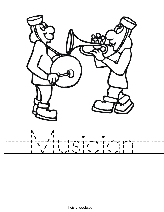 Musician Worksheet