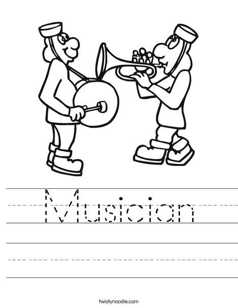 Musicians Worksheet