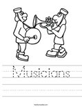 Musicians Worksheet