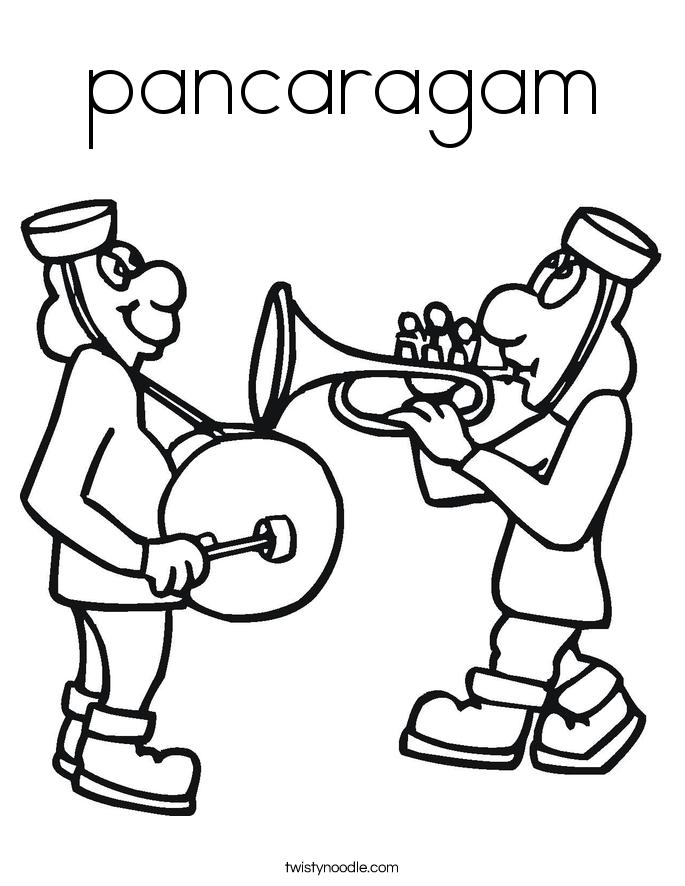 pancaragam Coloring Page