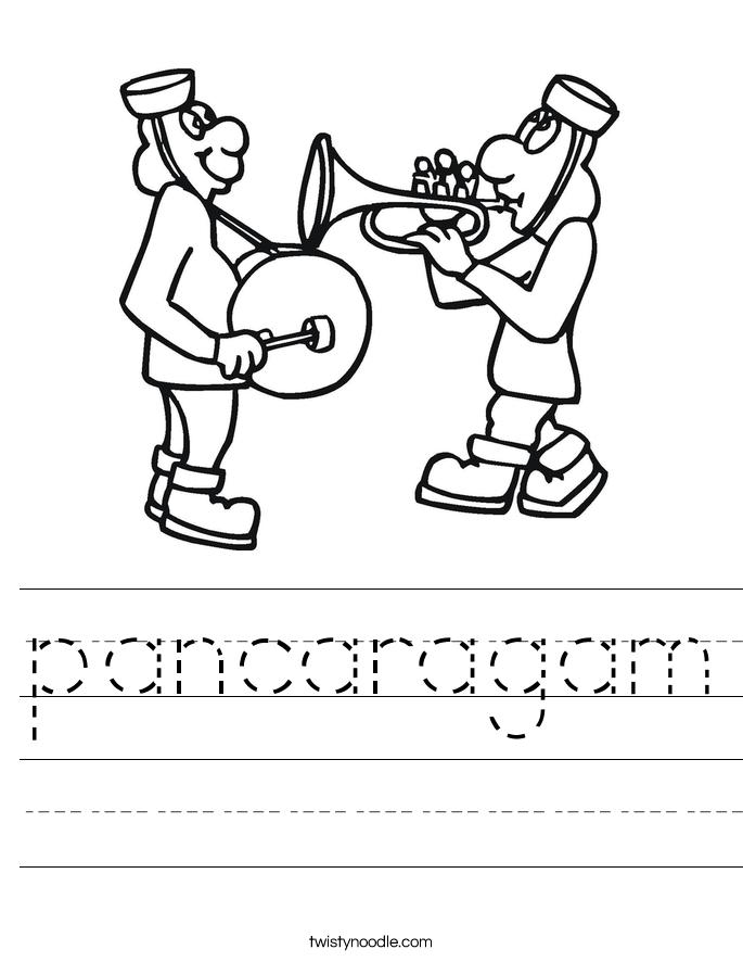 pancaragam Worksheet