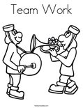 Team Work Coloring Page