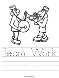 Team Work Worksheet