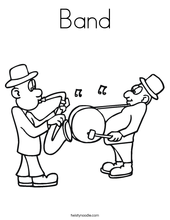 band coloring page - Music Coloring Pages