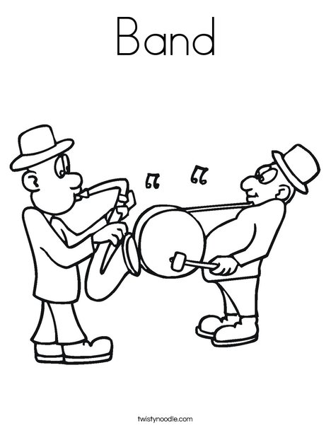Band coloring page twisty noodle for Band coloring pages