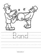 Band Handwriting Sheet