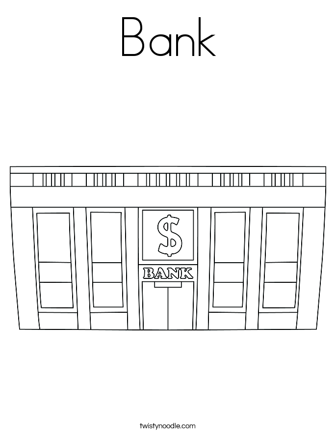 banking coloring pages for kids - photo#35