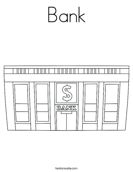 Bank Coloring Page