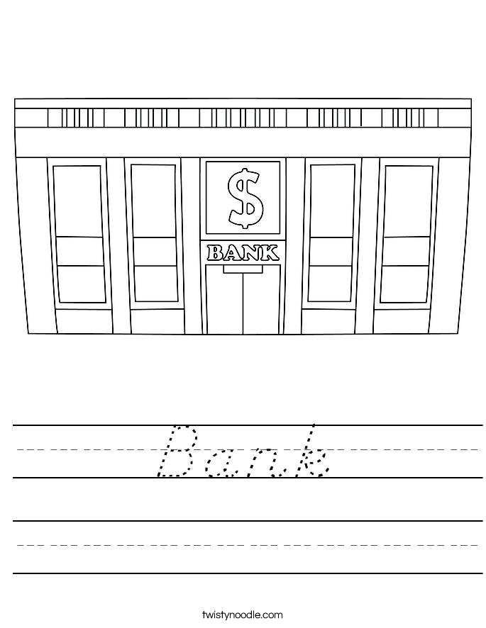 Bank Worksheet