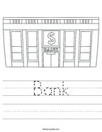 Bank Handwriting Sheet
