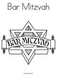 Bar MitzvahColoring Page