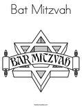Bat MitzvahColoring Page