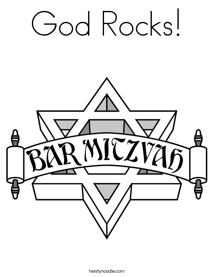 God Rocks! Coloring Page