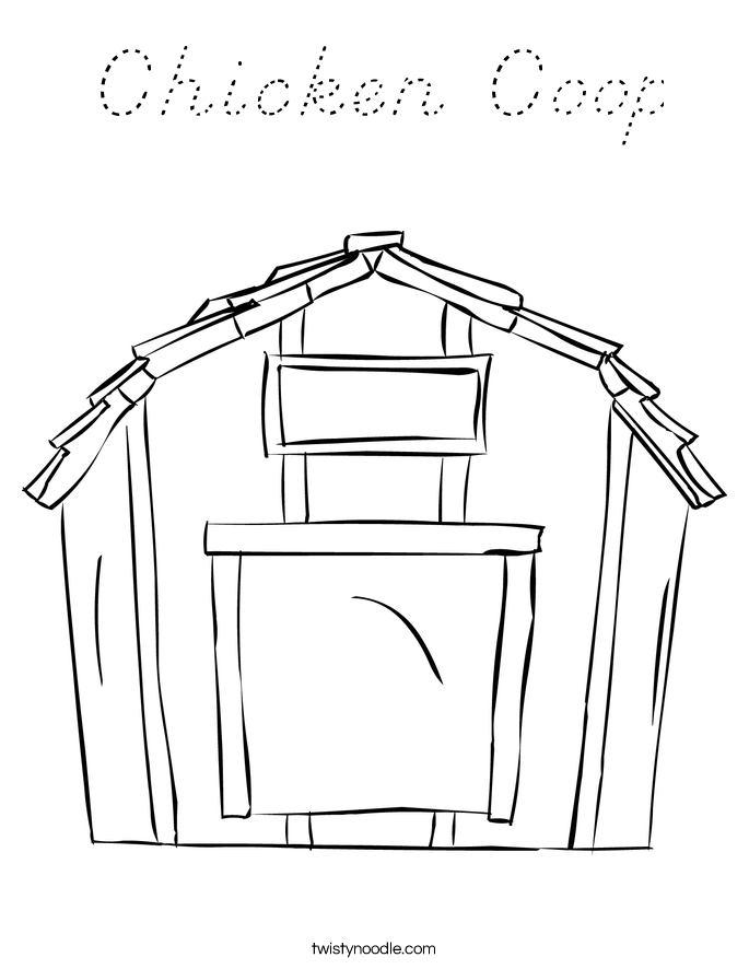 Chicken Coop Coloring Page