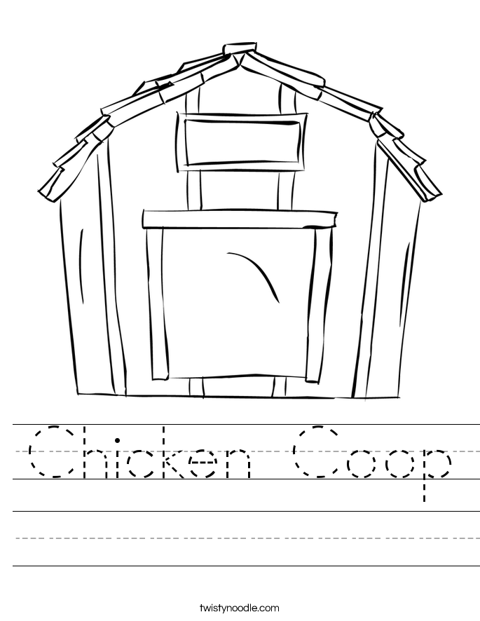 Chicken Coop Worksheet