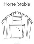 Horse StableColoring Page