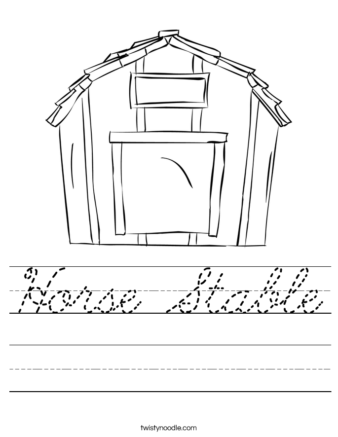 Horse Stable Worksheet