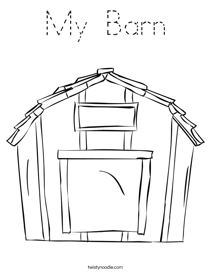 My Barn Coloring Page