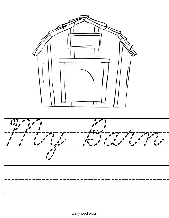 My Barn Worksheet