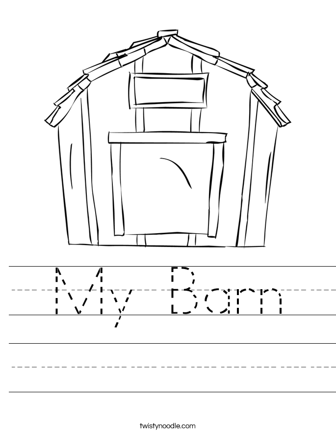 My Barn Worksheet