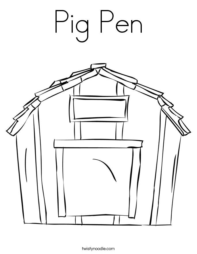 Pig Pen Coloring Page