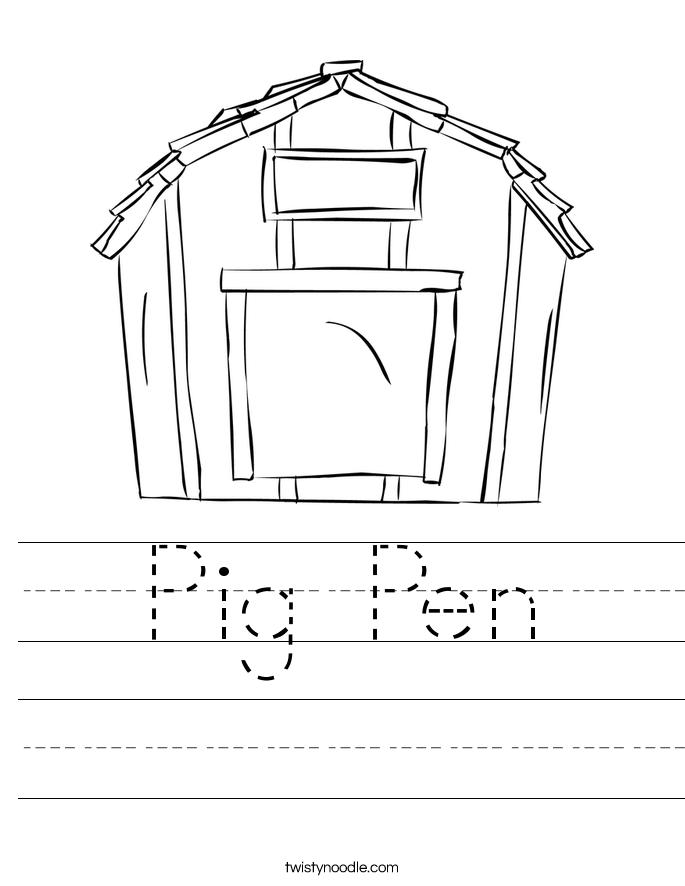 Pig Pen Worksheet