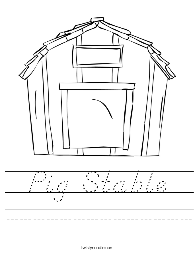 Pig Stable Worksheet