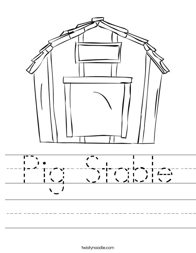 Pig Stable Worksheet