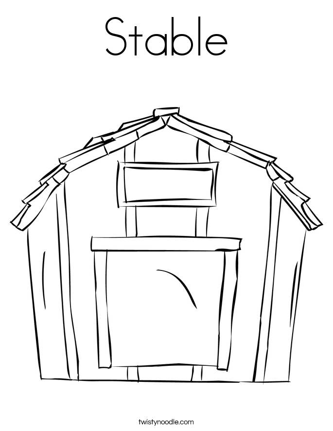 Horse Stables Colouring Pages