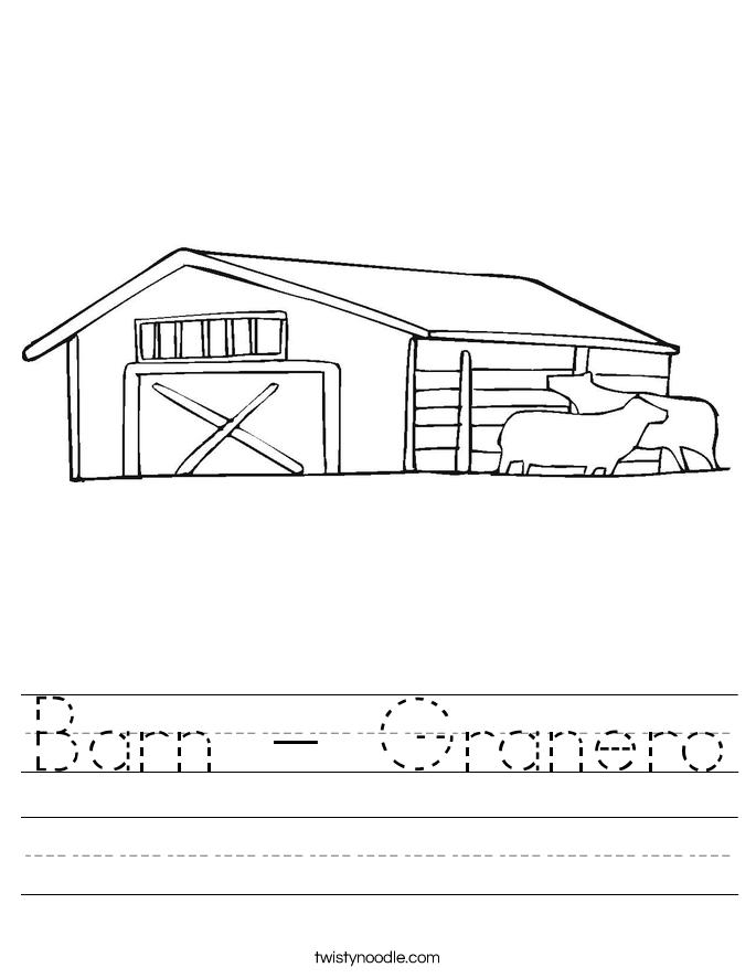 Barn - Granero Worksheet