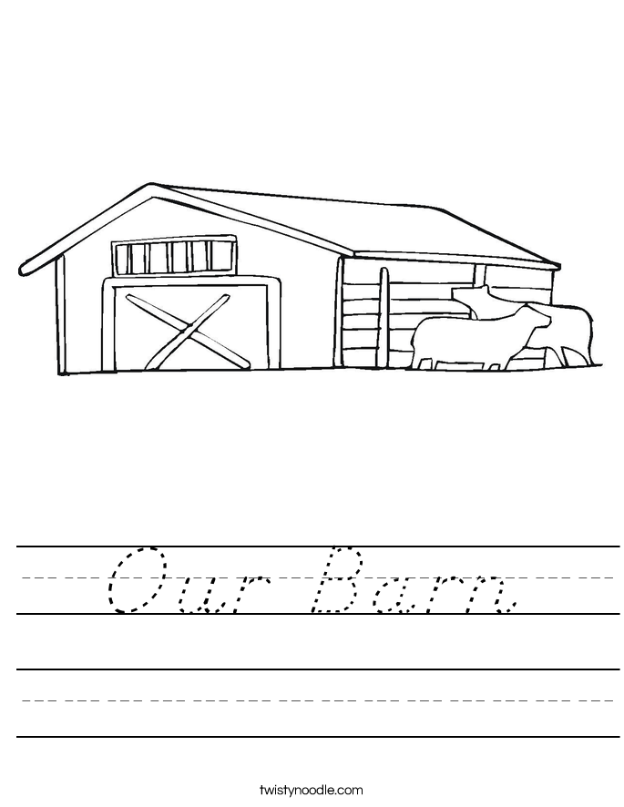 Our Barn Worksheet