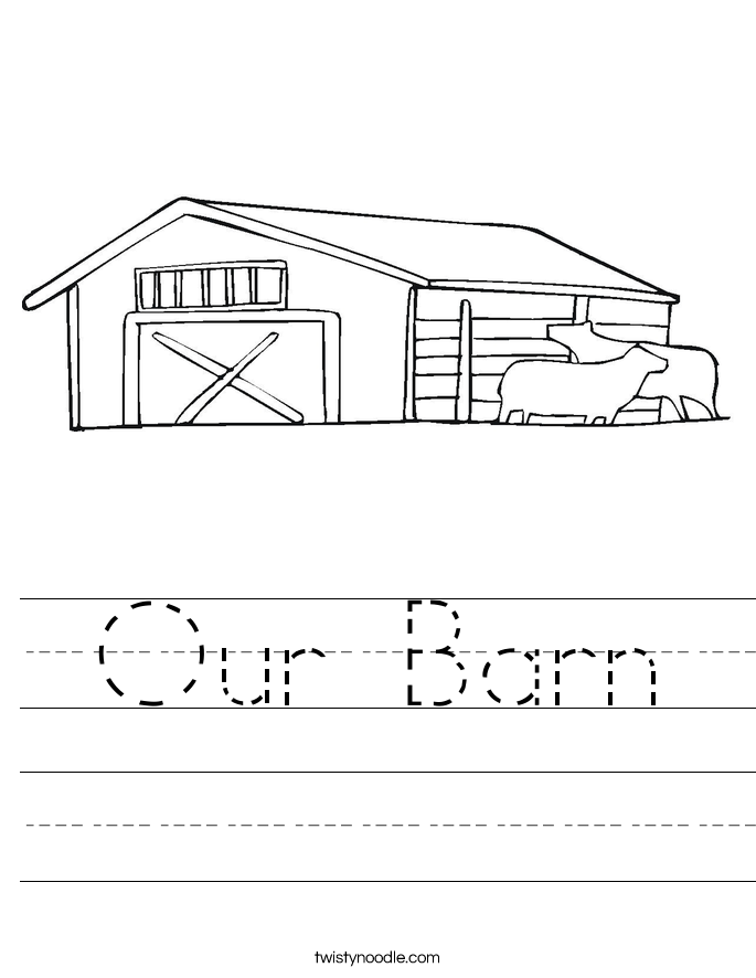 Our Barn Worksheet
