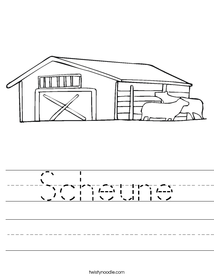 Scheune Worksheet