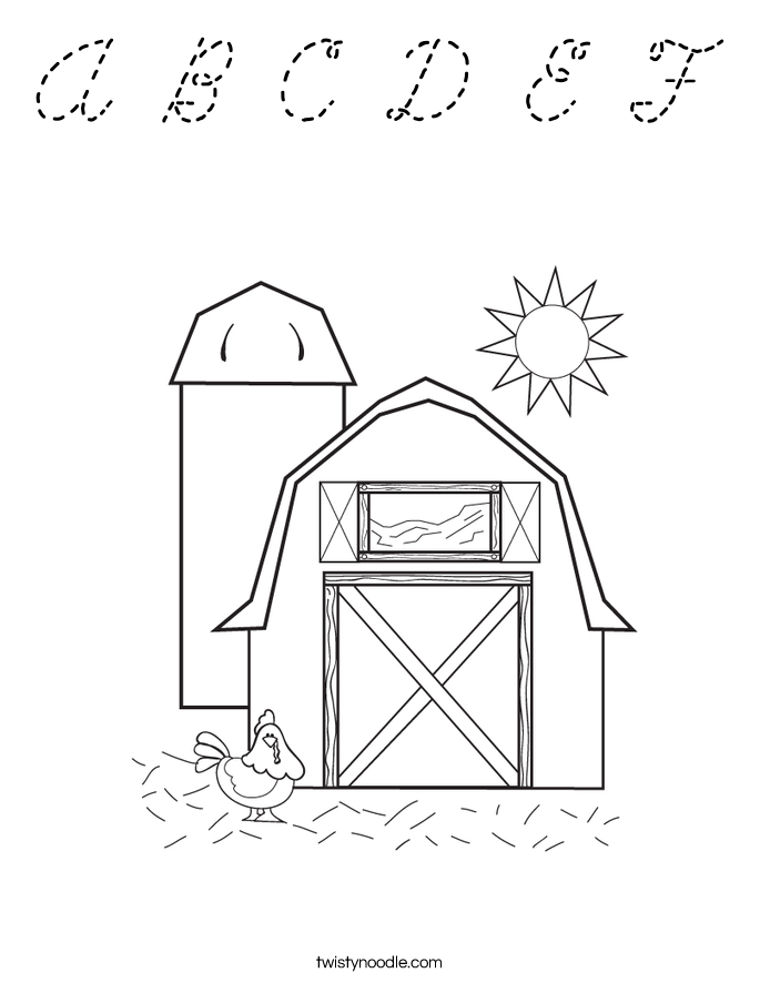 a b c coloring pages - photo #21