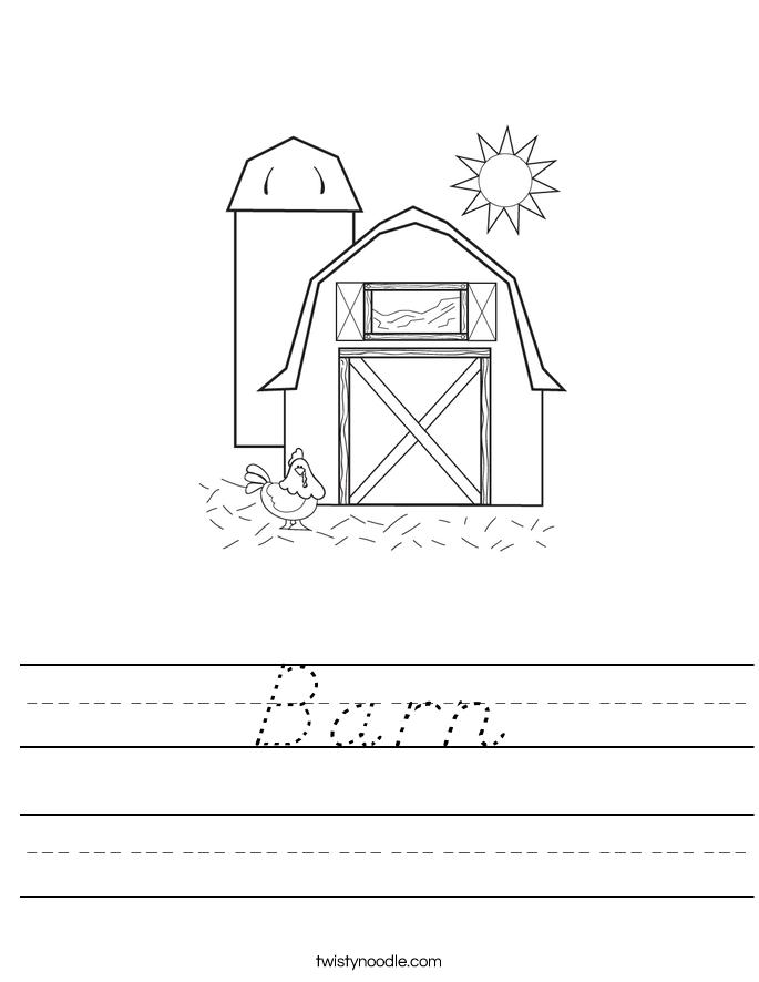 Barn Worksheet