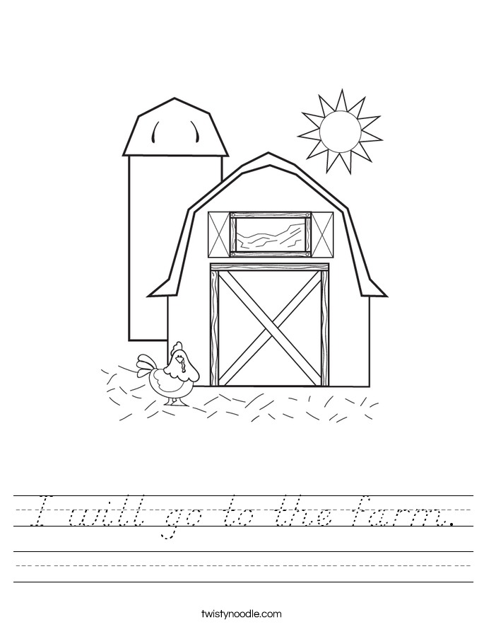 I will go to the farm. Worksheet