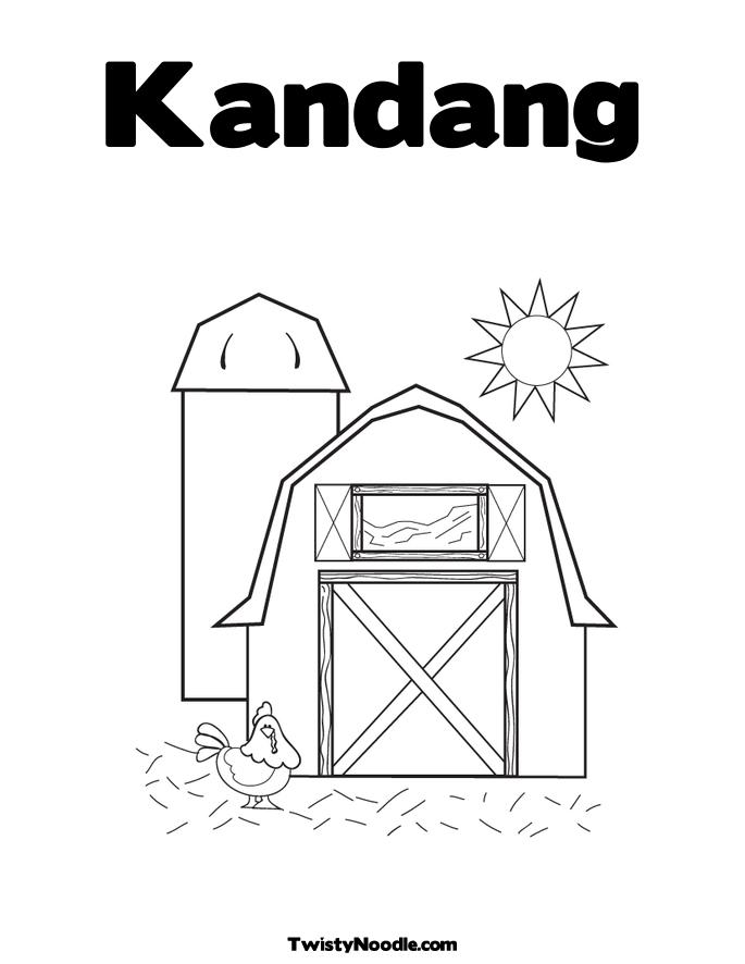 Red Barn Coloring Page http://printablecolouringpages.co.uk/?s=red%20barn