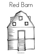 Red Barn Coloring Page