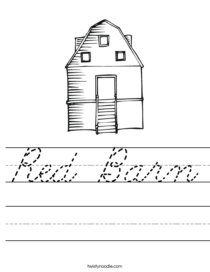 Red Barn Worksheet