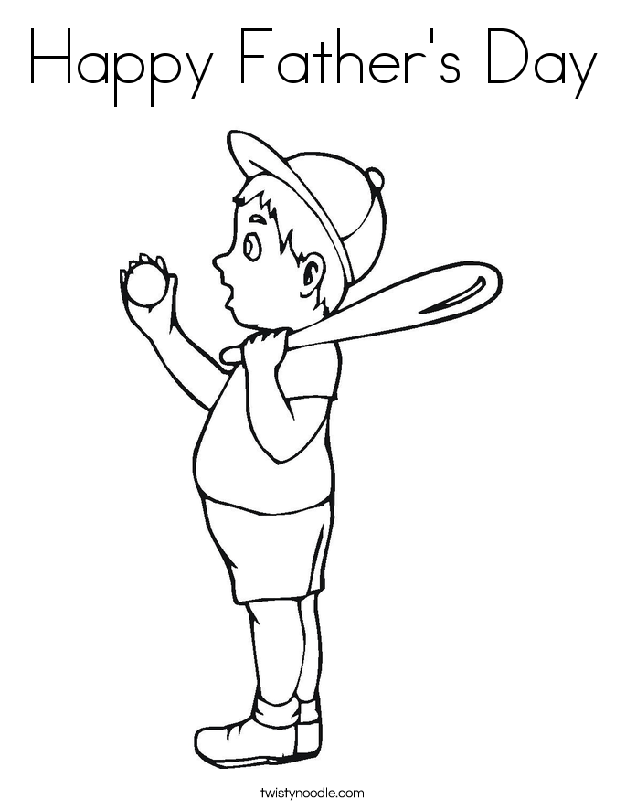dad baseball coloring pages - photo#26