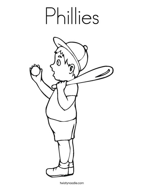 Phillies Baseball Coloring Pages Printable Sketch Coloring