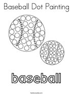 Baseball Dot Painting Coloring Page