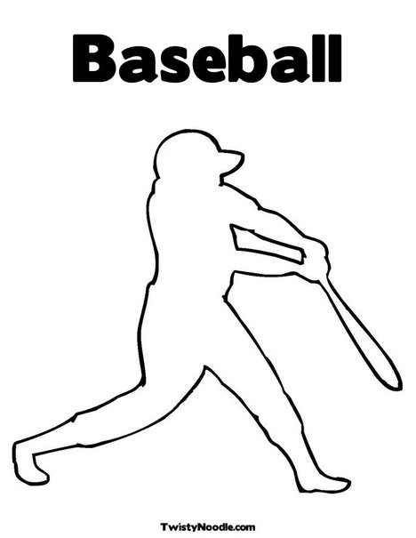 Free baseball font with tail sketch coloring page for Baseball player coloring pages