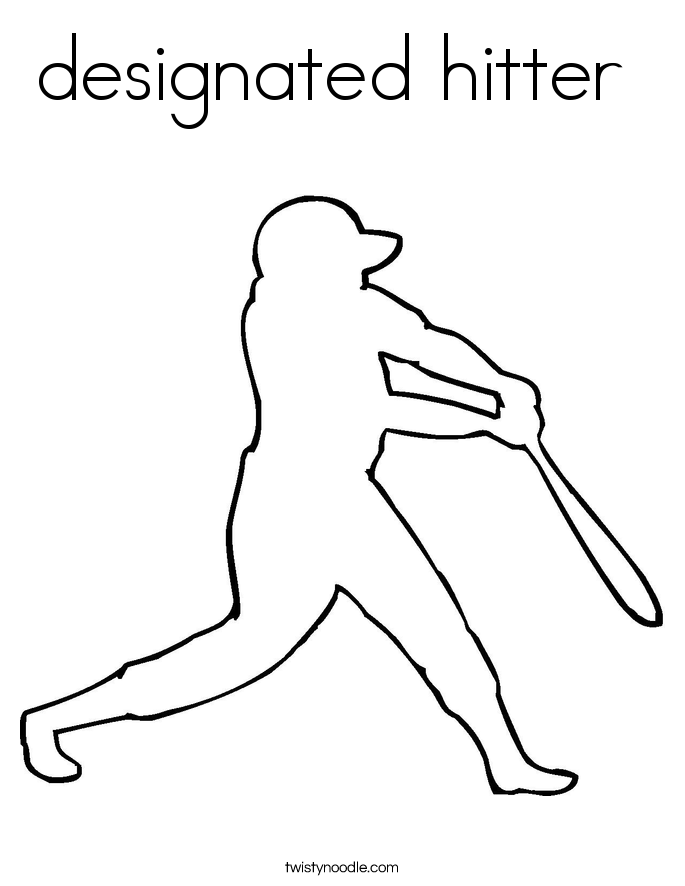designated hitter  Coloring Page