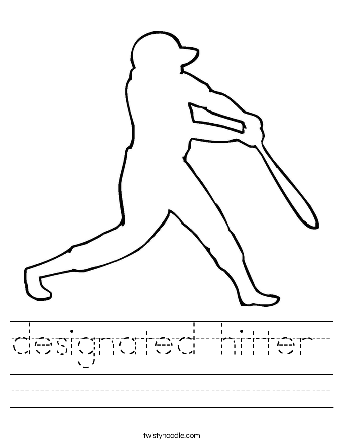 designated hitter  Worksheet
