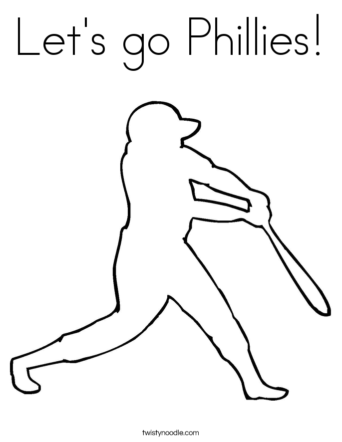 Let's go Phillies! Coloring Page